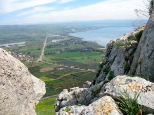 Mt Arbel in Israel.  The mountain where the religious leaders would retreat to pray at the time of Christ.